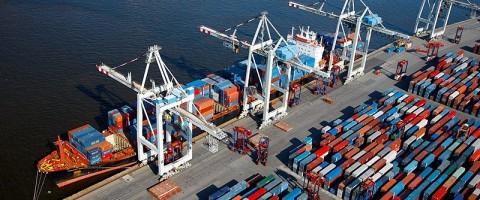 puerto Hamburgo, terminal de contenedores