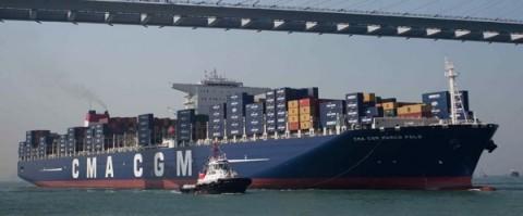 Portacontenedores Marco Polo de CMA CGM en Hong Kong