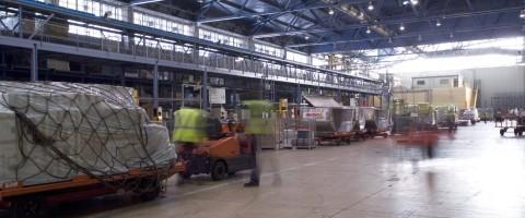 Terminal de carga de Iberia en Barajas