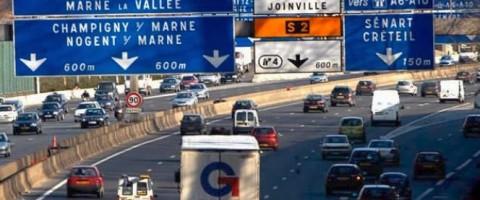 Circulacion en las carreteras francesas