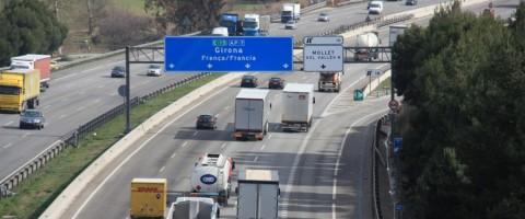 Autopista AP-7 a su paso por Gerona