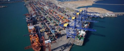 Terminal de contenedores del puerto de Valencia