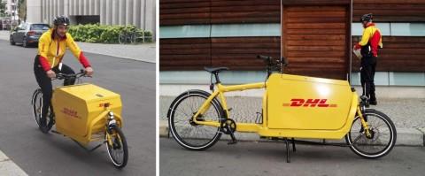 DHL ensaya el reparto urbano con bicicletas adaptadas