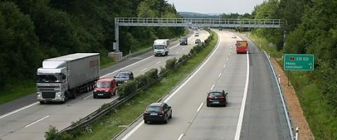 Peaje en una autopista de la Republica Checa