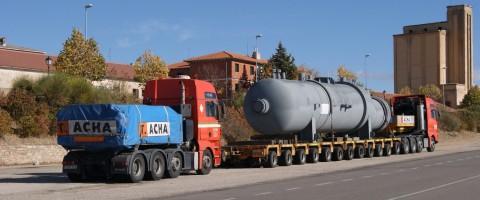 Transporte especial por carretera en la N1