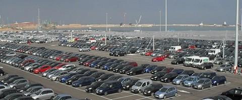 Terminal de coches en el puerto de Sagunto dependiente de la AP de Valencia