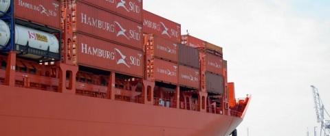 Hamburg Sud abre una nueva linea de contenedores en el puerto de Gijon