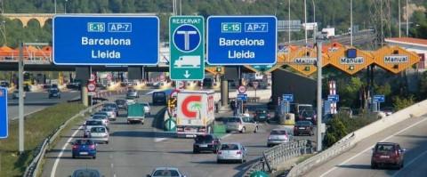 Peaje en la autopista de Barcelona