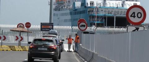Operacion paso del estrecho 2015 en el puerto de Algeciras