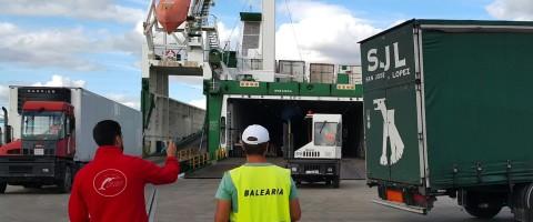 Los contenedores transportados en SSS sobre camión, excluidos de  pesaje