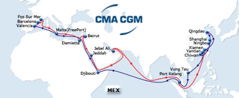Servicio MEX de CMA-CGM