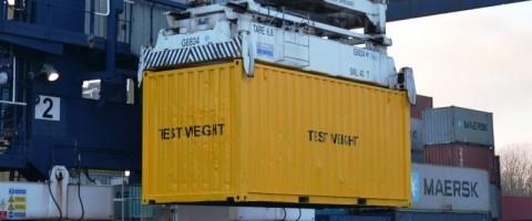 puerto de Felixstone contenedores