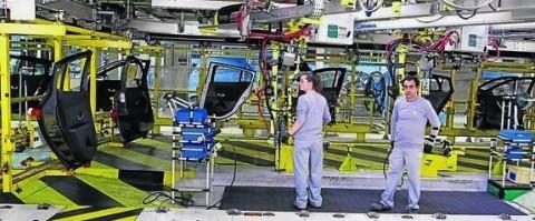 Cadena de montaje de la planta de Renault en Palencia