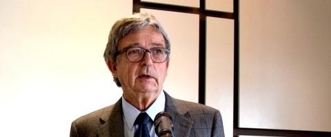 El presidente de Anesco, Joaquim Coello, durante su participación en el último encuentro del Propeller Valencia