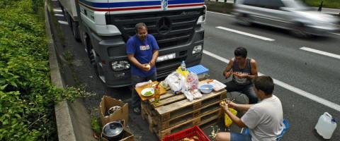 Descanso de los camioneros