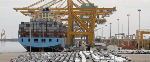 Terminal de contenedores de Marmedsa en el puerto de Valencia