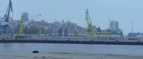 muelles del puerto de Vigo