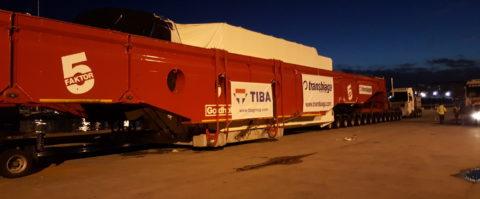 Tiba transporta un aerogenerador japonés a Navarra