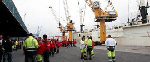 Estibadores del puerto de La Luz en Las Palmas