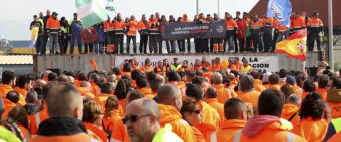 los estibadores de IDC se han reunido en Algeciras