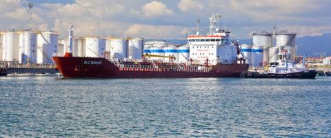 El RC Behar en el Muelle de la Química en el puerto de Tarragona