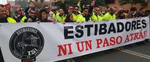 protesta estibadores puerto sevilla estiba