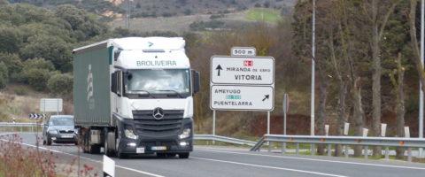 carretera Miranda de Ebro Vitoria nacional 1 N-I