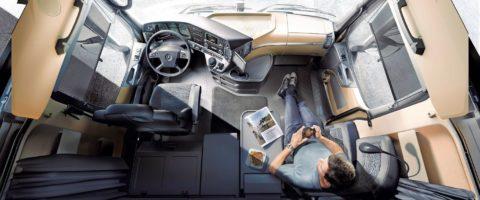 descanso en cabina conductor