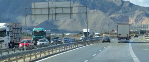carretera A7 Alicante Murcia