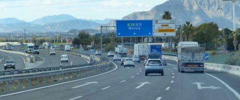 carretera cartel A-7 Murcia Crevillente