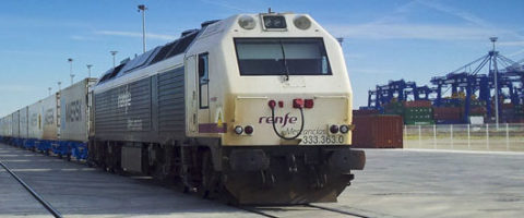 ferrocarril puerto Algeciras terminal TTI contenedores
