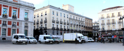 distribucion urbana en la puerta del sol de madrid