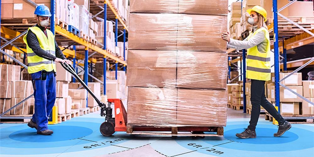 El nuevo reto de la logística: controlar la proximidad entre los empleados